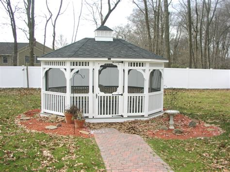 Backyard Enclosed Gazebo Exterior Enclosed Gazebo House Decorations And Furniture