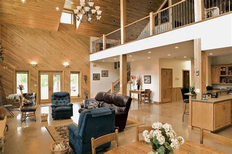 pole barn home interior 345 best images about barndos on pinterest metal homes