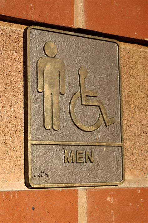 Bathroom Plaque by Men S Restroom Sign Brass Plaque Picture Free Photograph