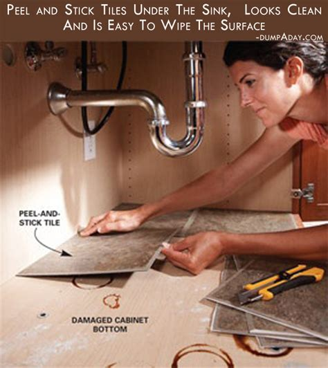 How To Fix Kitchen Sink Peel And Stick Tiles The Sink Looks Clean And Is Easy To Wipe The Surface Picture The