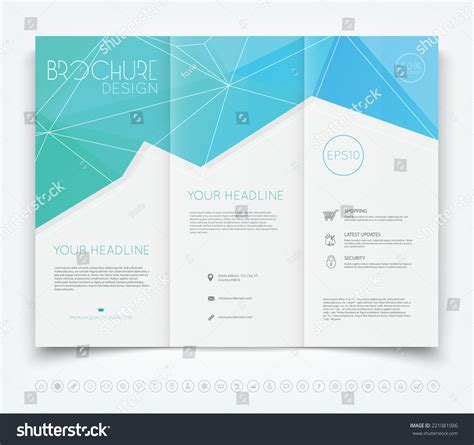 leaflet design background vector modern trifold brochure design template stock