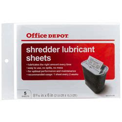 office depot coupons shredder office depot brand shredder lubricant sheets pack of 5 by