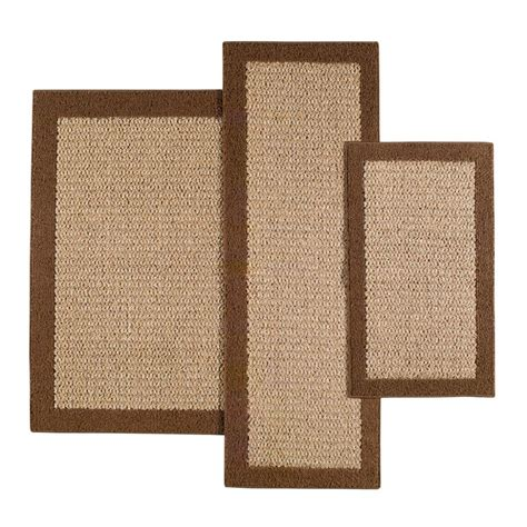 faux sisal rugs faux sisal brown accent rug set maples rugs
