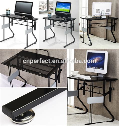 2015 Top Sale Cheap Tempered Glass Computer Desk Assembly Computer Desk Assembly