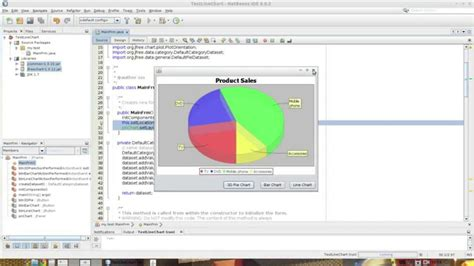 netbeans tutorial swing application netbeans demo display various charts in swing