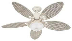 Coastal Style Ceiling Fans Fan Company 54094 Caribbean White 54