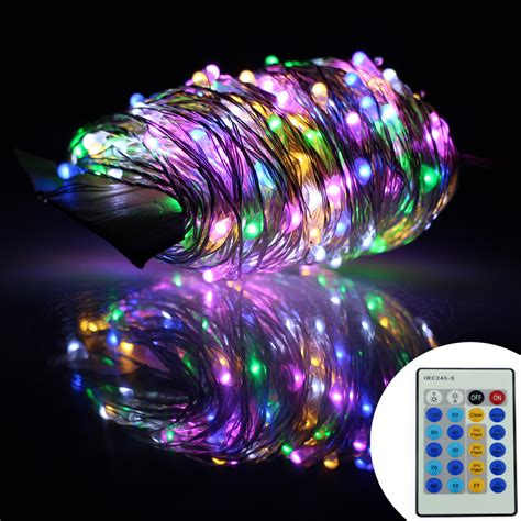 Remote Control 130ft 40m Gorgeous Led String Lights 400led Starry String Lights Lights On Silver Wire