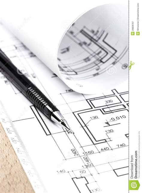 architecture drawing tool architecture draw and instruments royalty free stock
