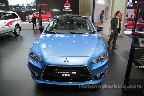 mitsubishi china 2016 mitsubishi lancer ex front at auto china 2016