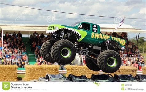 santa maria monster truck sw thing getting air editorial stock photo image