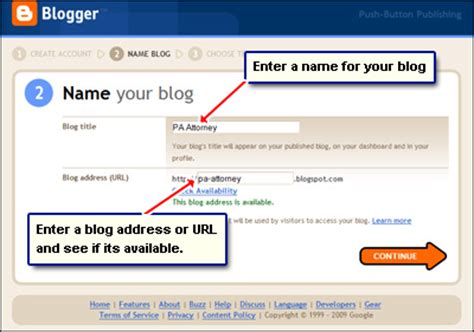 blogger url create a blog quick n easy steps