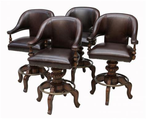 maitland smith bar stools 4 maitland smith leather upholstered bar stools lot 270