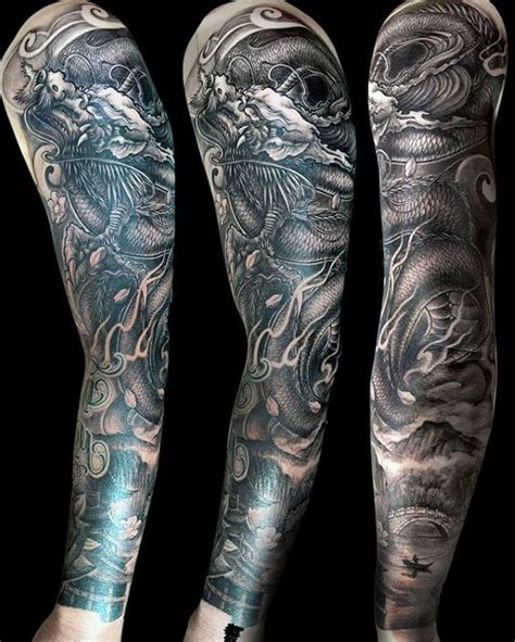 chinese dragon tattoo sleeve designs 75 tattoos for masculine design ideas