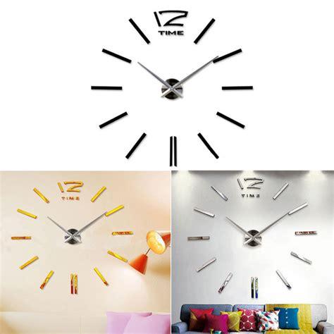 Jam Dinding Big Diy Wall Clock 3d wall clock jam dinding silver jakartanotebook