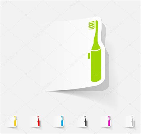 How To Make A Toothbrush Out Of Paper - electric toothbrush paper sticker stock vector 169 palau83
