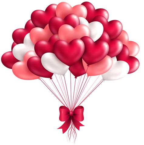 Beautiful heart balloons png clipart image gallery yopriceville high quality images and