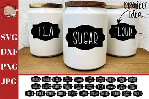 farmhouse labels bundle svg pantry labels canister