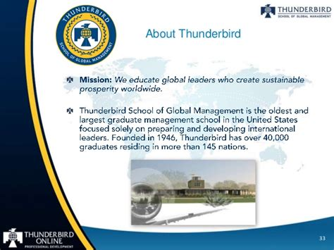 Thunderbird Mba Ranking by Thunderbird Certificate In Global Gas