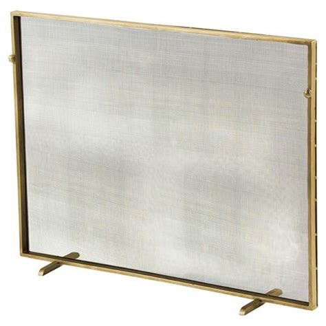 Gold Fireplace Screens by Modern Classic Simple Iron Fireplace Screen Gold Kathy