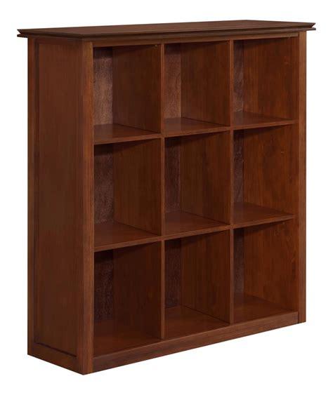 9 cube bookcase black amazon com simpli home artisan medium 9 cube storage