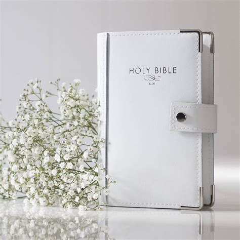 Leather Wedding Bible by Leather Christening Bible By Oh So Cherished