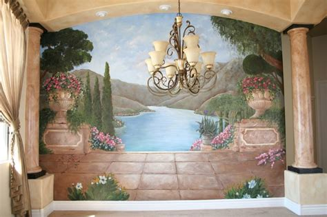 dining room wall murals mediterranean and tuscan murals mediterranean dining