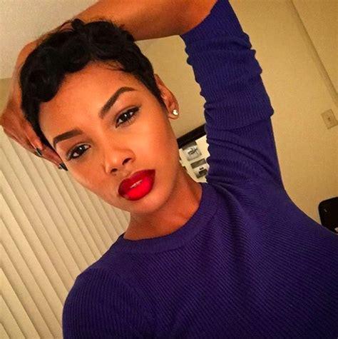 show me pixie haircuts pixie haircut red lipstick black woman short natural