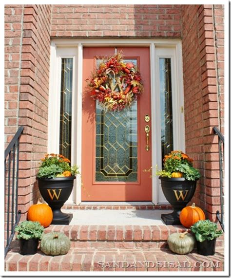 how to decorate porch for fall decorating a fall front porch sand and sisal