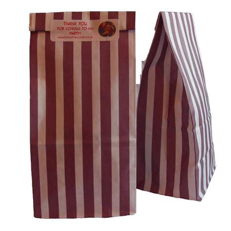 Purple Bag Picks by Paper Bag Purple Stripe N Mix Style With Sticker