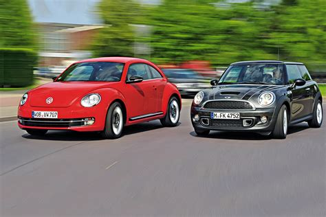mini volkswagen beetle beetle vs mini drives auto express