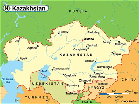 kazakhstan on the world map kazakhstan political map by maps from maps