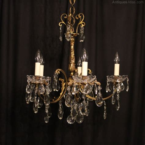 Italian Chandelier Antiques Atlas An Italian 5 Light Gilded Antique Chandelier