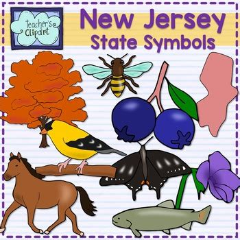 pams50states nj state symbols new jersey state symbols clipart by teacher s clipart tpt