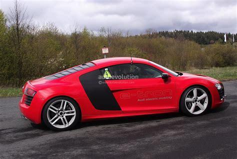 first audi r8 spyshots audi r8 e tron first tests at nurburgring