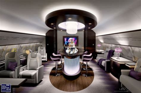 vip private business aircraft design aircraft interior