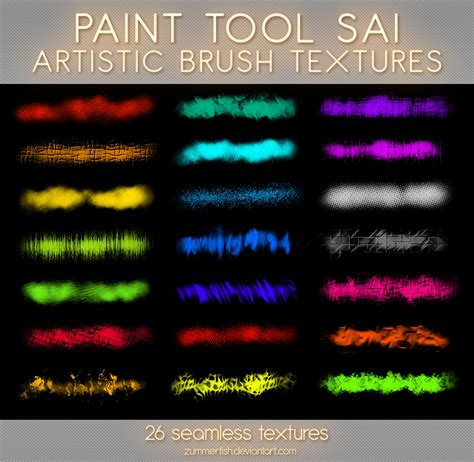 Paint Tool Sai Artistic Textures Vol1 By Zummerfish On
