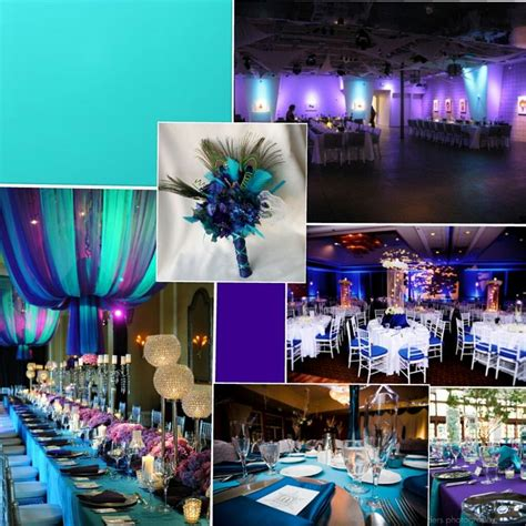 purple and turquoise wedding reception purple teal theme wedding ideas reception crafts