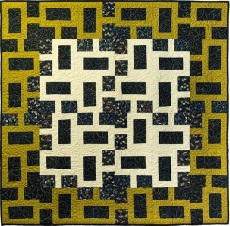 geometric pattern quilt chain link modern geometric quilt pattern quilts by jen