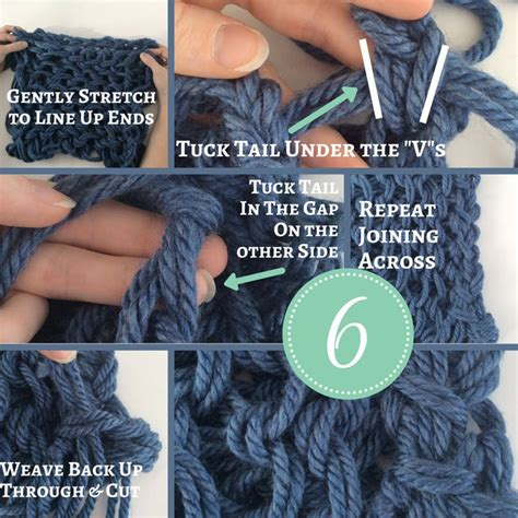 arm knitting scarf step by step how to arm knit step by step infinity scarf