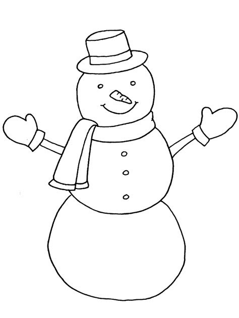 free coloring pages of winter snowman