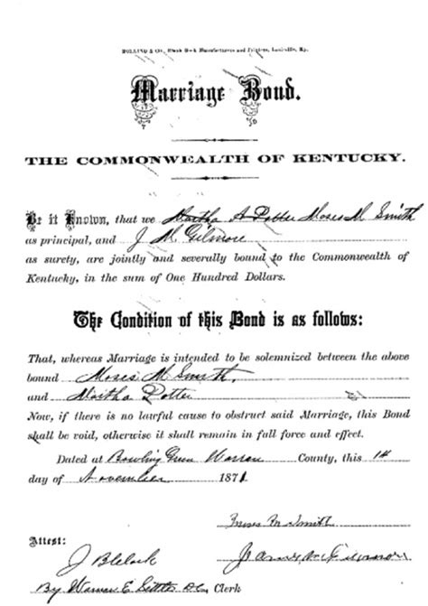 Ky Marriage Records Using Kentucky Marriage Records