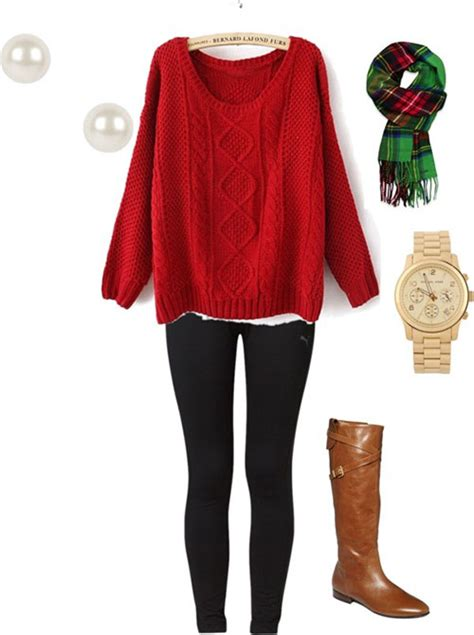 christmas polyvore combinations