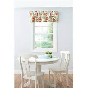 Better Homes And Gardens Kitchen Curtains Better Homes And Gardens Jacobean Stripe Valance Walmart