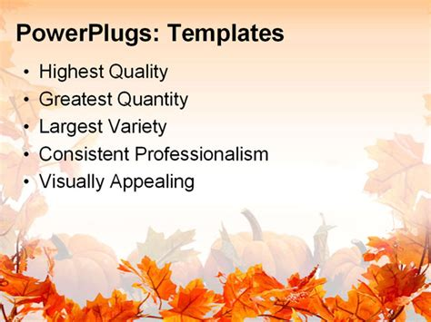 Free Fall Powerpoint Template Free Fall Border Templates Free Fall Powerpoint Templates