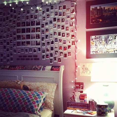 lights for bedroom walls bedroom wall inspiration polaroids and string