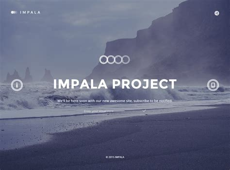 bootstrap themes background impala premium responsive coming soon html5 template