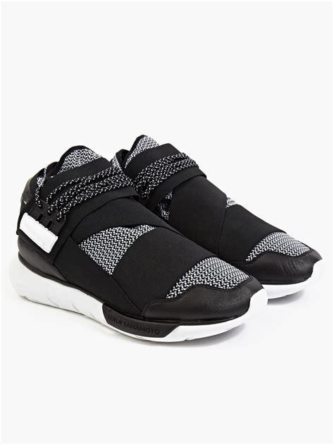Adidas Y 3 Qasa High Blackwhite Premium High Quality 1 adidas y 3 qasa white