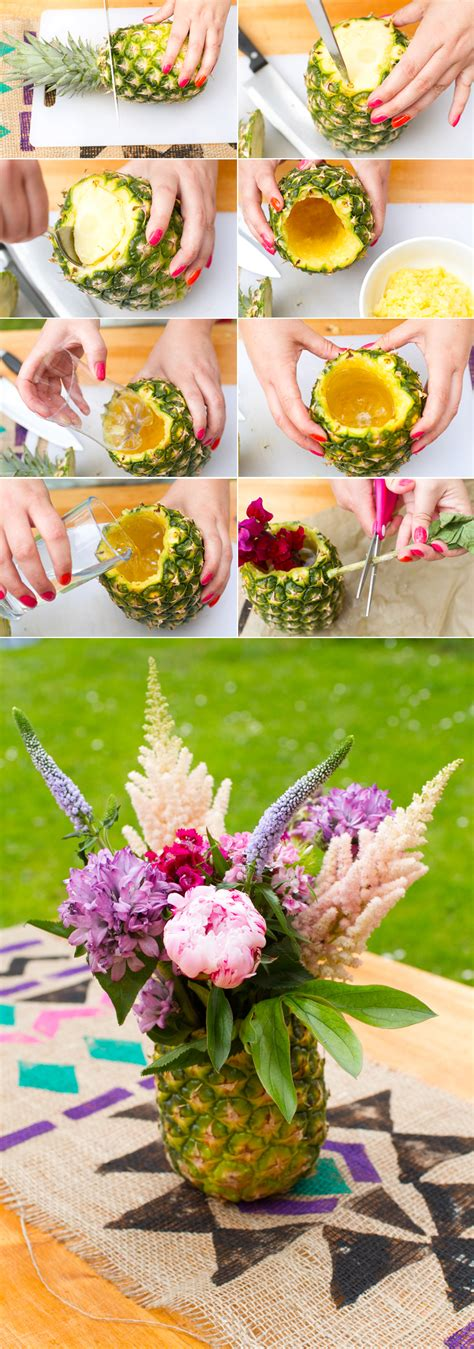 make your own floral centerpieces how to make your own pineapple floral arrangement