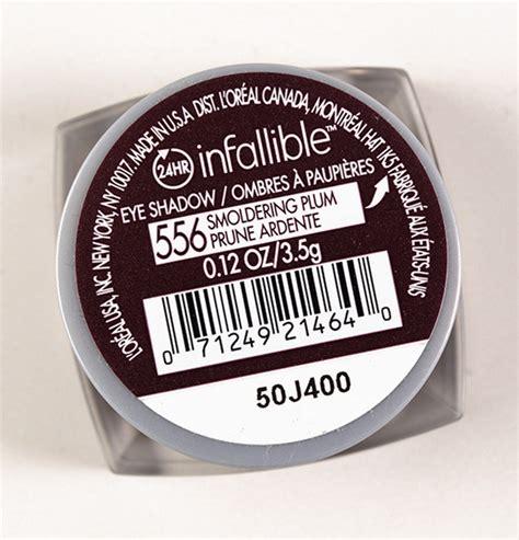 Bedak L Oreal Infallible loreal infallible 556 smoldering plum eyeshadow