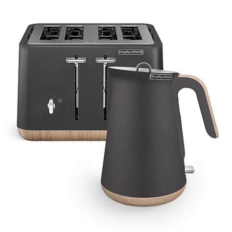 scandi titanium aspect kettle and 4 slice toaster set